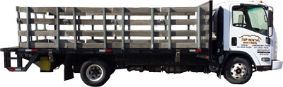 Rent 16 foot flatbed trucks with lift gate at Timp Rental