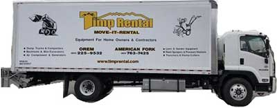 Rent 26 foot trucks with lift gate at Timp Rental Center