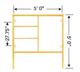 Where to find Scaffold Frame, 5 x5 in Provo